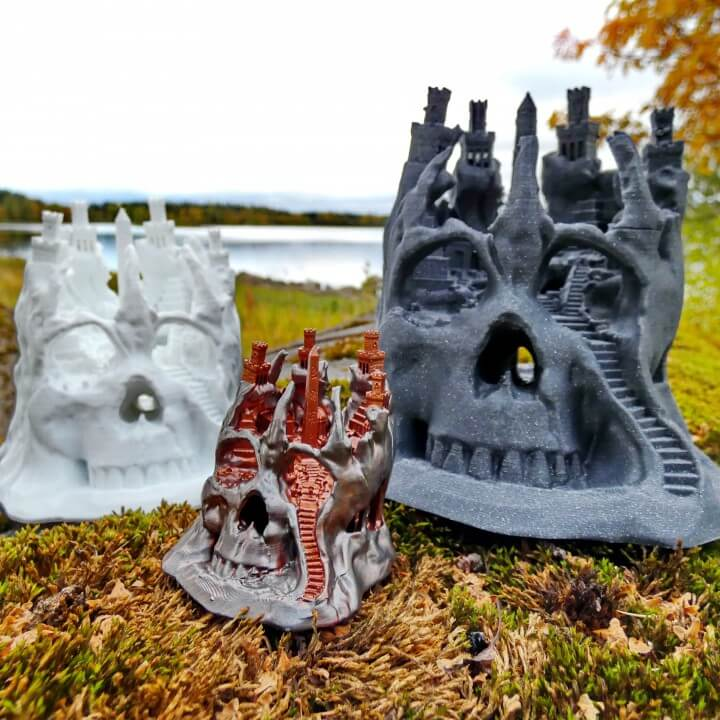 3d-modell schädel stadt 3d model skull city