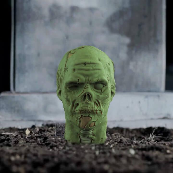3d-modell zombie kopf head 3d model