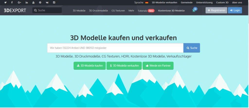 3dexport 3d-printing stl files
