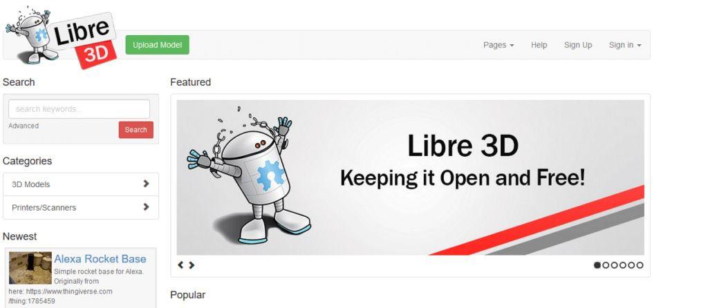 libre3d 3d-printing models