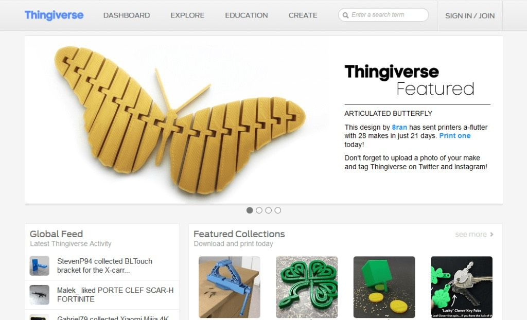 thingiverse free stl-files and models