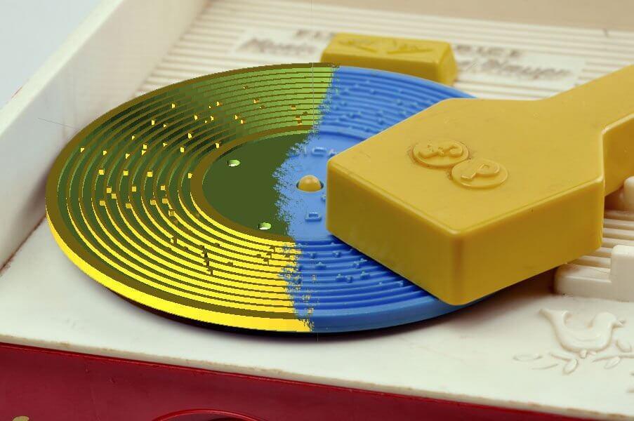 3d-gedruckte schallplatte fisher price 3d printed record fred murphy