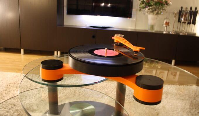 3d-gedruckter schallplattenspieler lenco md 3d printed record player