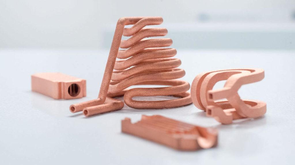 3d-gedrucktes kupfer 3d printed copper trumpf