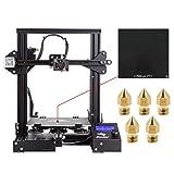 Comgrow Creality DIY 3D Drucker Ender 3 mit Gehärteter Glasplatte und Fünf Düsen 220x220x250mm...